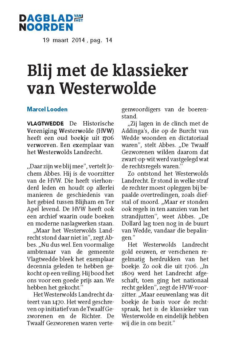 20140319 Blij met de klassieker van Westerwolde