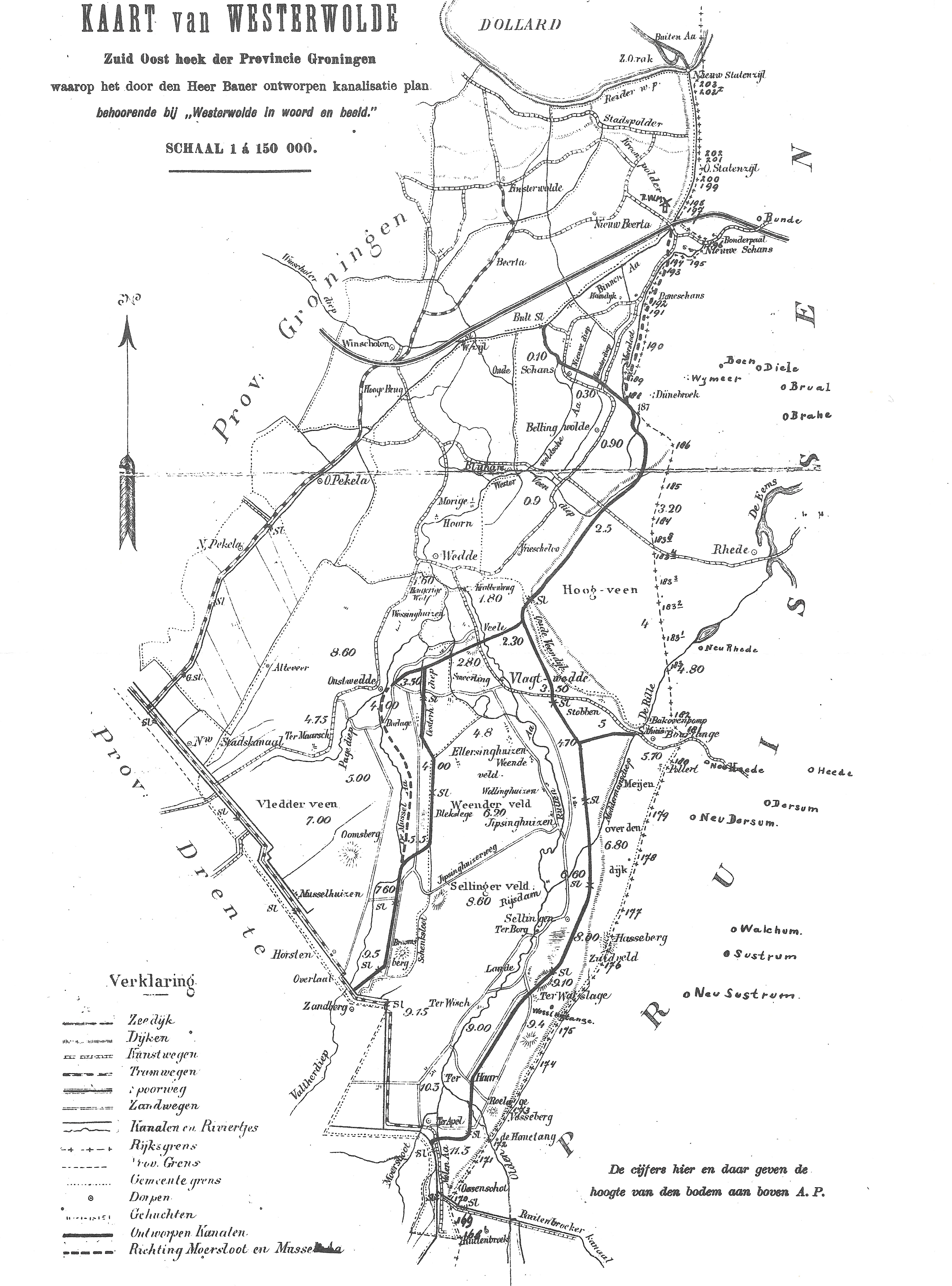 Westerwolde kaart 600 dpi