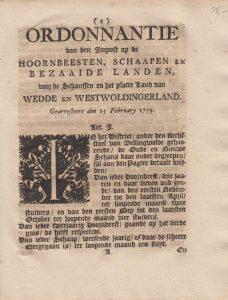 ORDONN OD HOORNB, ETC 1759 W&W&S VB