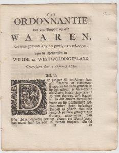 ORDONN OD IMPOST V WAAREN W&W&S 1759 VB