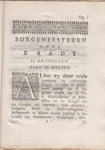 ORDONN OP DE KINDERB , WYNCO., ETC. 1721 1