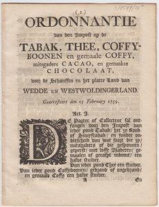 ordonn vd imp op de thee, koffie, etc w&w7s 1759 1