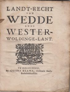 LANDRECHT WEDDE EN WESTERW 1677 VB