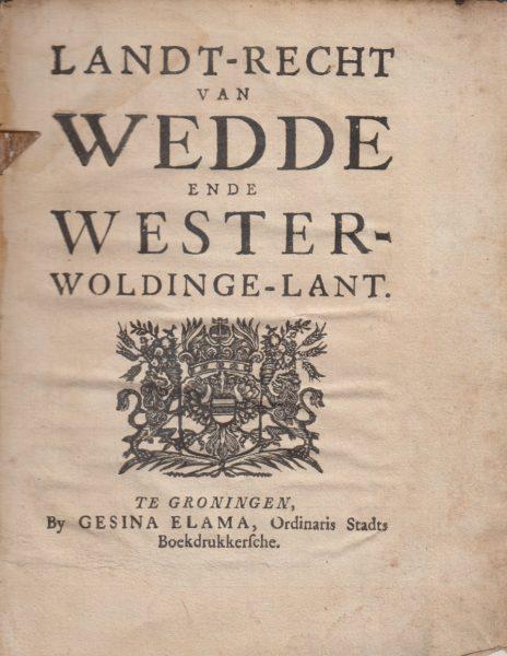 LANT-RECHT VAN WEDDE EN W 1677 PAG 1.bmp